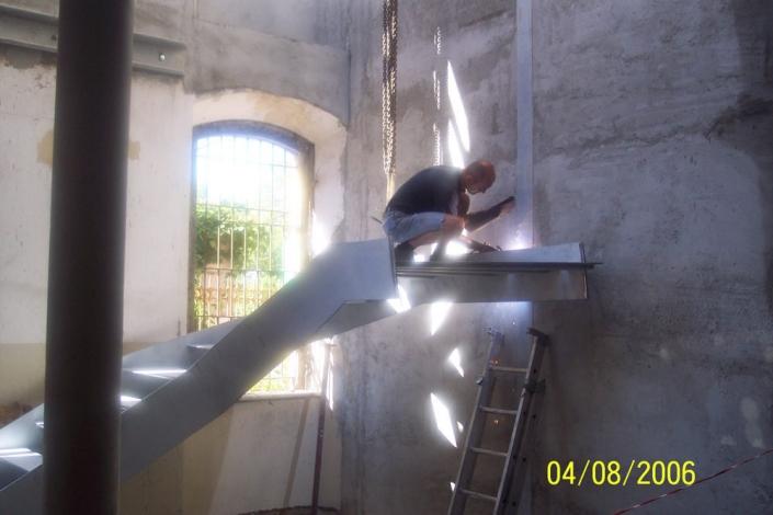 realizzazione scale in metallo lecco como 53